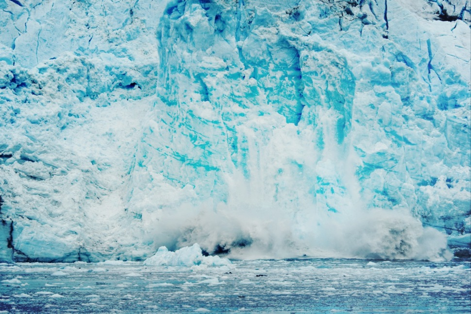 Crashing Alaskan Glacier