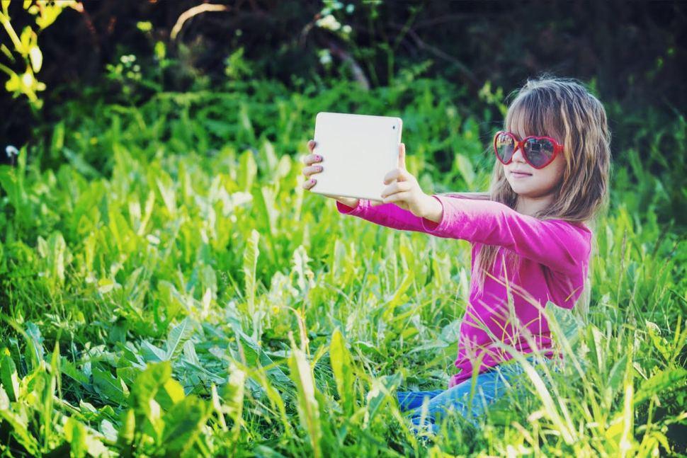 Little Girl Nature Selfie