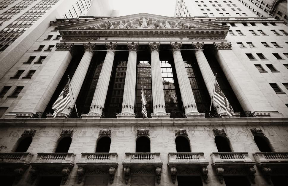 NEW YORK CITY - SEP 5: New York Stock Exchange closeup on Septem